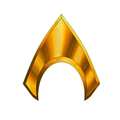 Aquaman logo png. And the waves smite