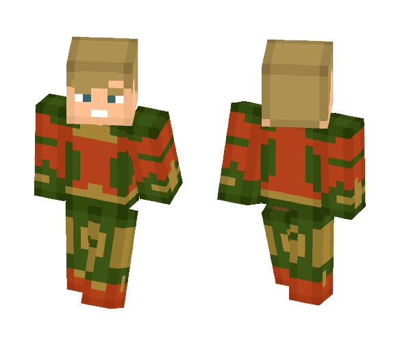 Aquaman minecraft png. Download skin for free