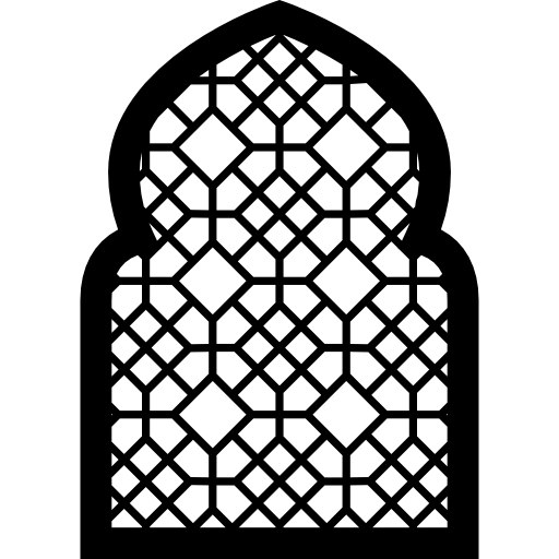Arabesque vector arch. Icon