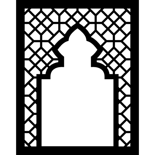 Arabesque vector islamic pattern background. Mosque islam frame arabic