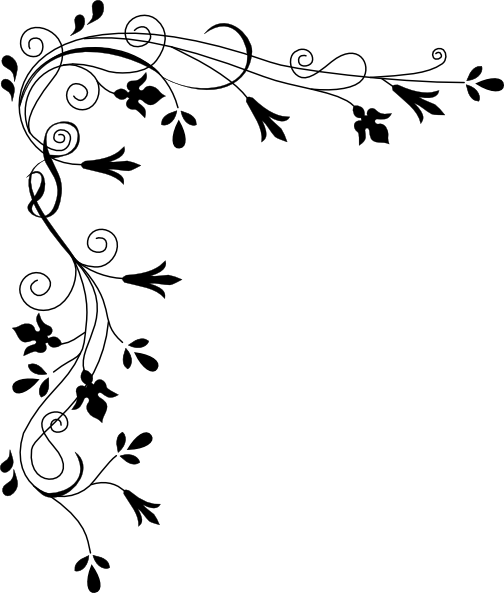 Arabesque vector corner. Decorative plant page clip