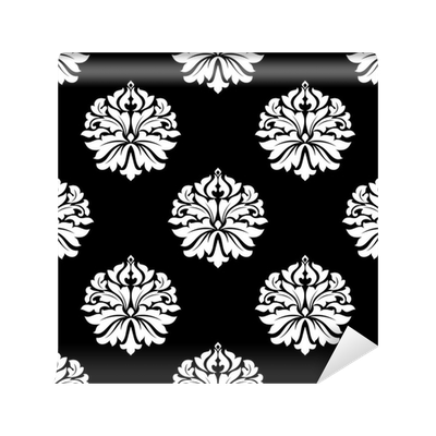 Arabesque vector floral. Pattern of motifs on