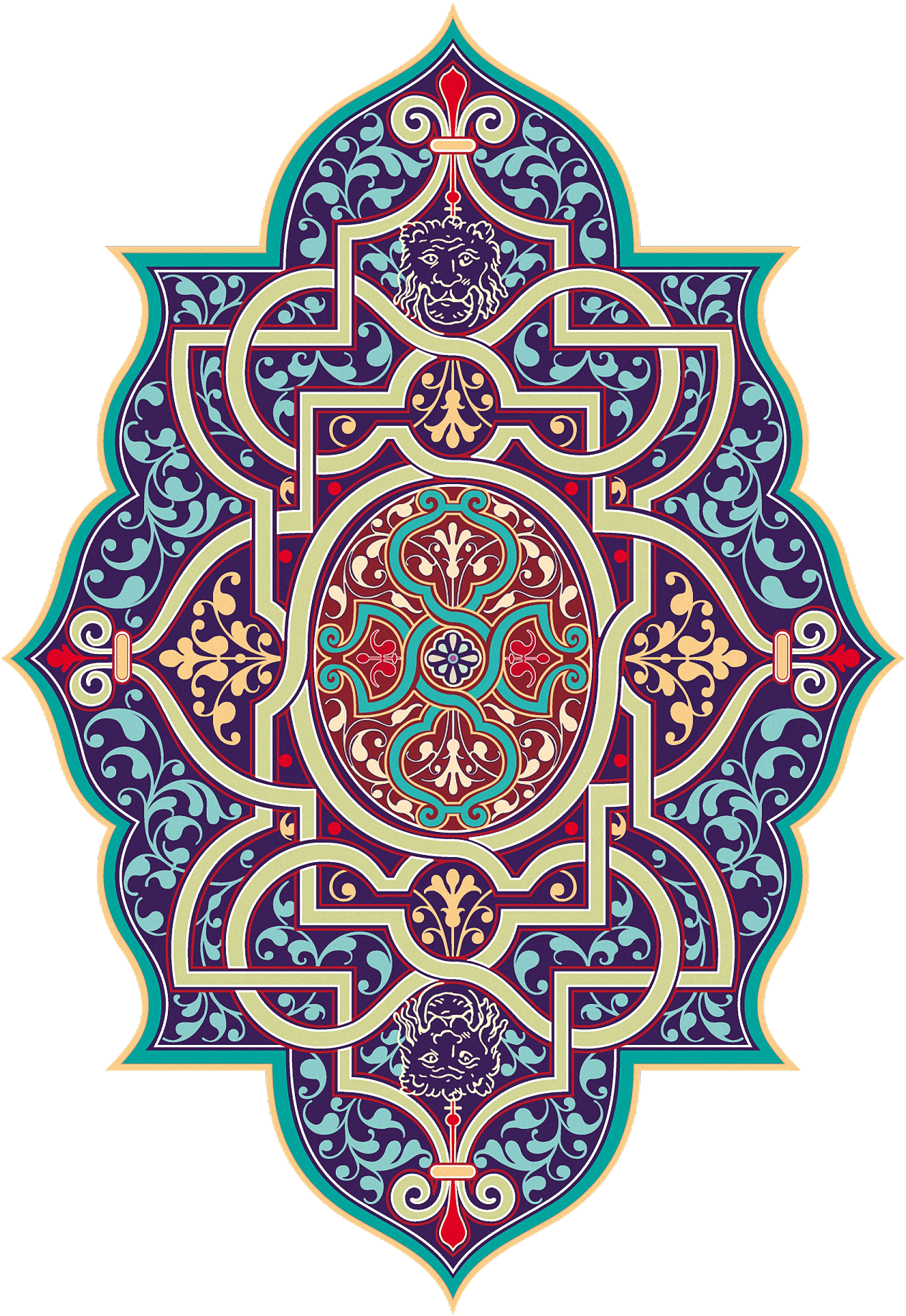 Arabic ornaments png. Ed e d