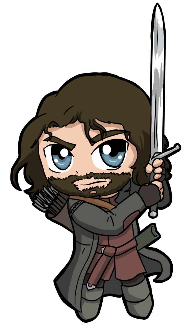 Aragorn drawing bad. By nickyparsonavenger on deviantart