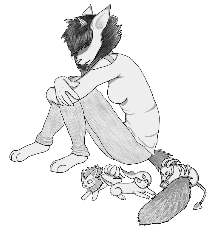 Drawing furry sketch. Request sitting female not