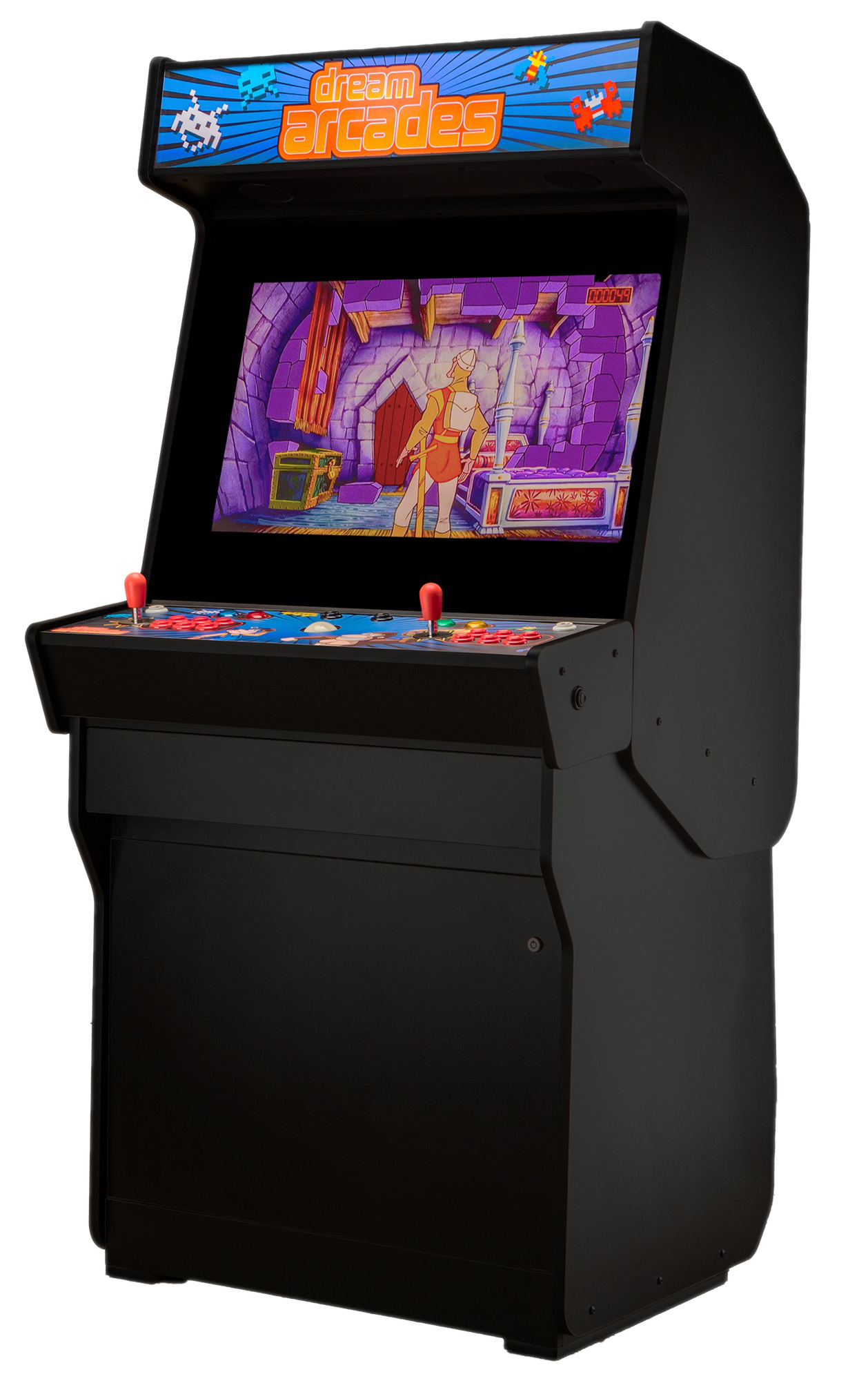 Arcade drawing build in cabinet. Dreamcade vision stand up