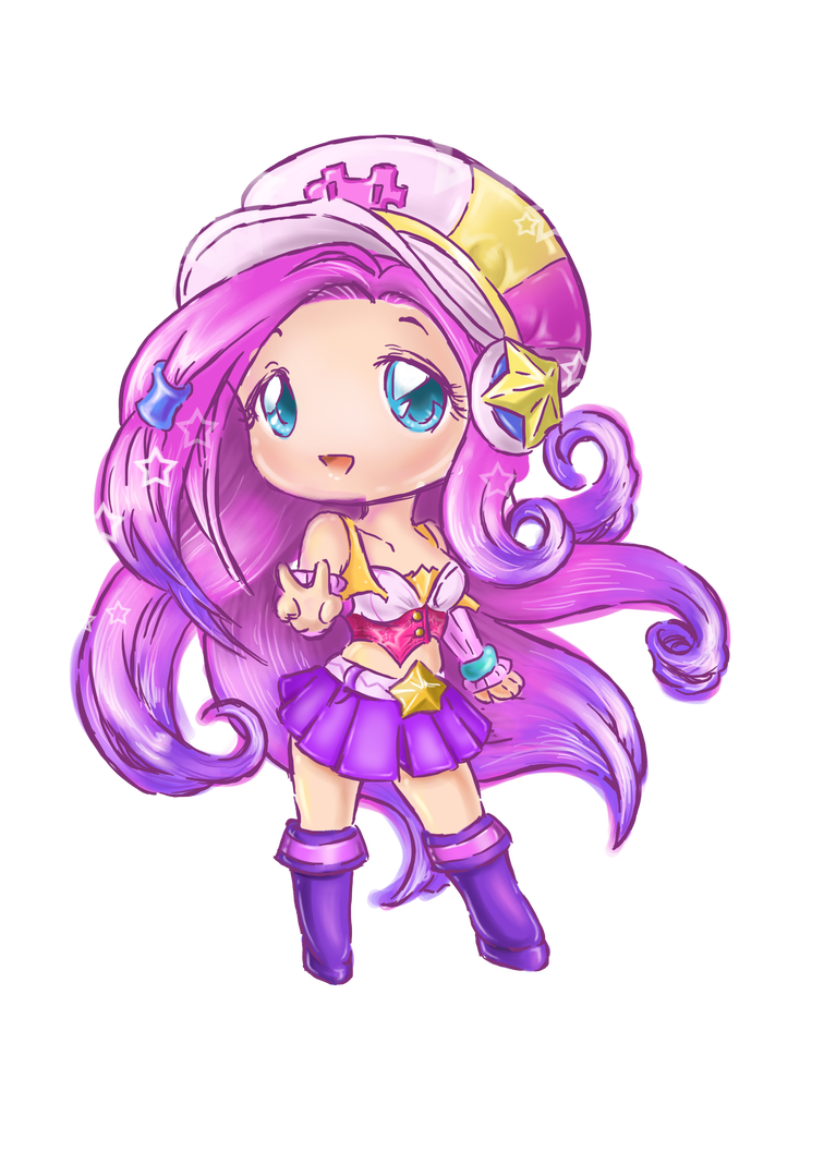 Arcade drawing chibi. Coloured miss fortune by