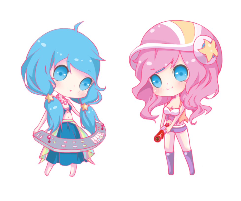 Arcade drawing chibi. Sona and miss fortune
