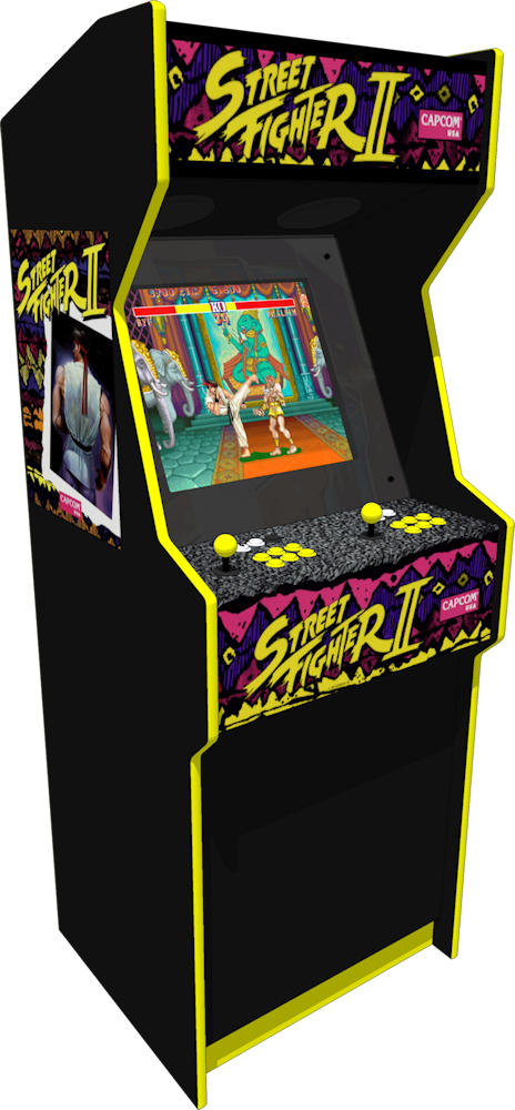 Arcade drawing machine. The street fighter ii