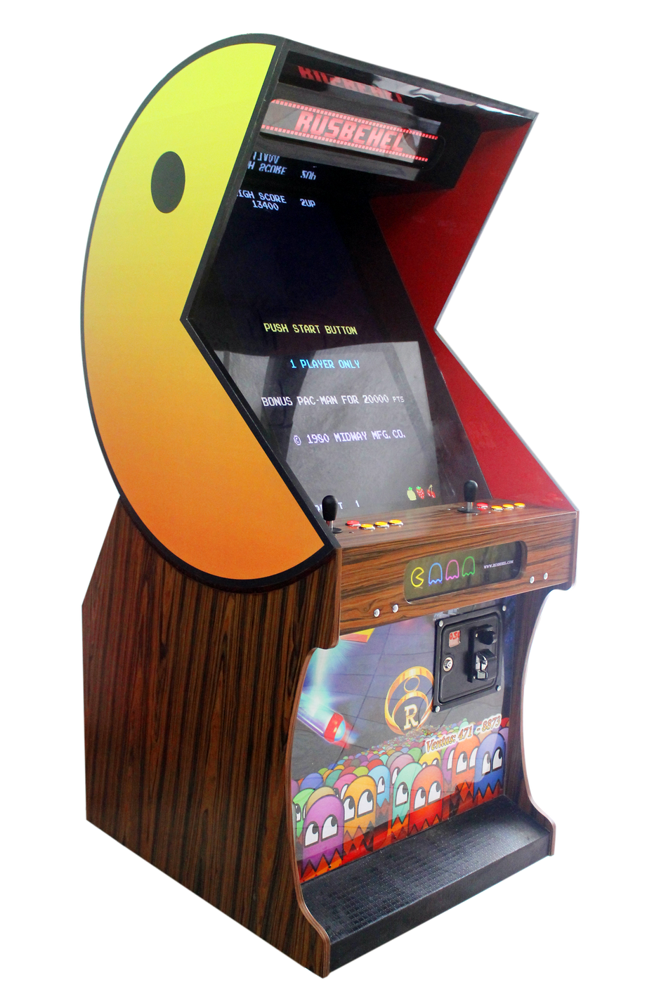 Arcade drawing video game. Pacman deluxe machine pinterest