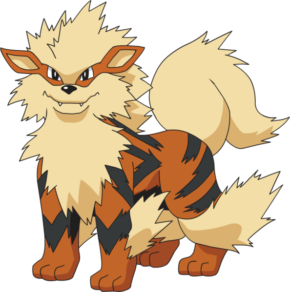 Arcanine transparent. Image anime ag png