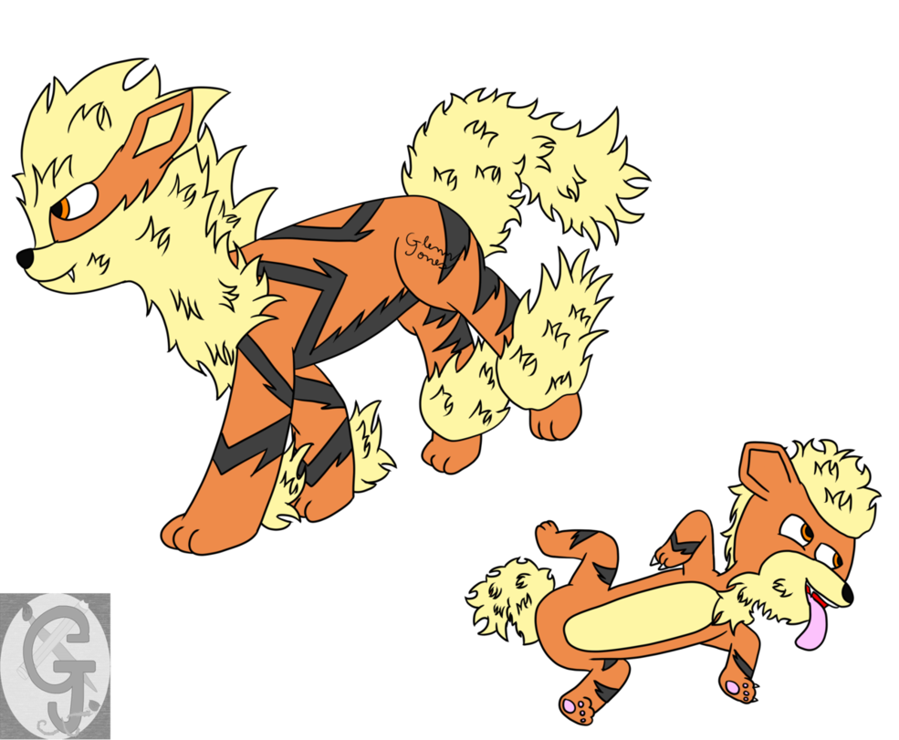 Growlithe drawing playful. Richard the arcanine by