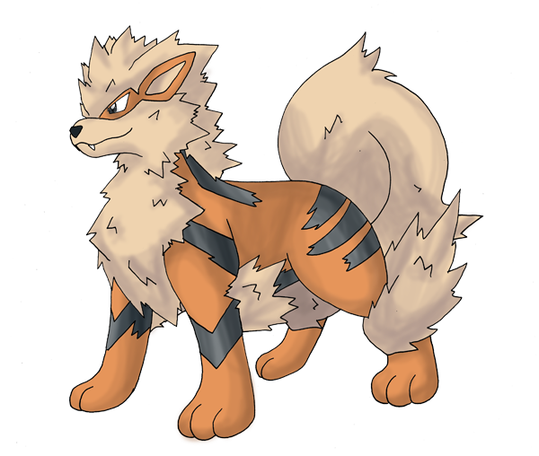 Arcanine transparent drawing pokemon. How to draw on