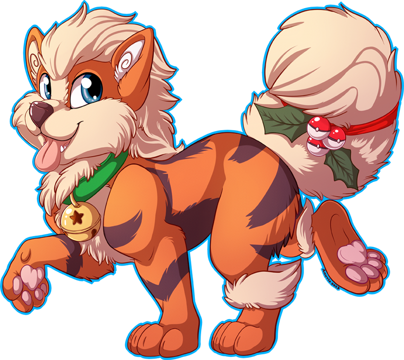 Arcanine transparent fluffy. Holiday by anuvia on