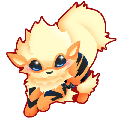 Growlithe drawing cute. Arcanine v by kaitlynclinkscales