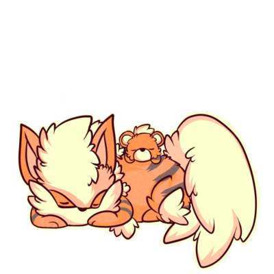 Growlithe drawing cute. Fluffy chibis and arcanine