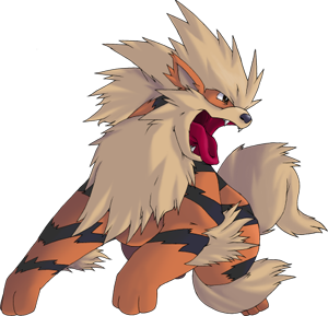 Arcanine transparent pokemon crystal. Pok dex stats moves