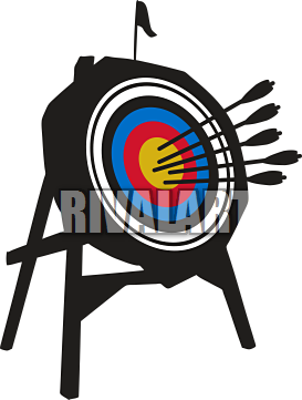Archer clipart. Archery target stand
