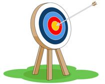 archer clipart aim