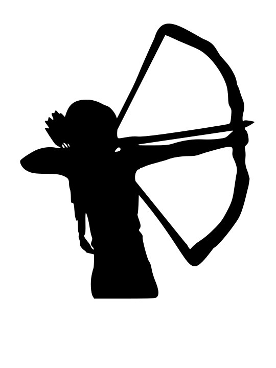 Archer clipart archer silhouette. Woman at getdrawings com
