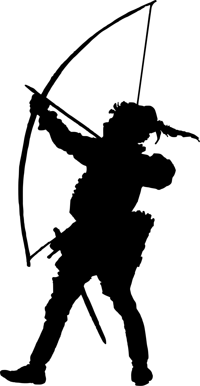 Archer clipart archer silhouette. Archery at getdrawings com