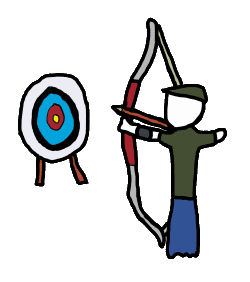 Archer clipart greek archer. Archery puns aims bow