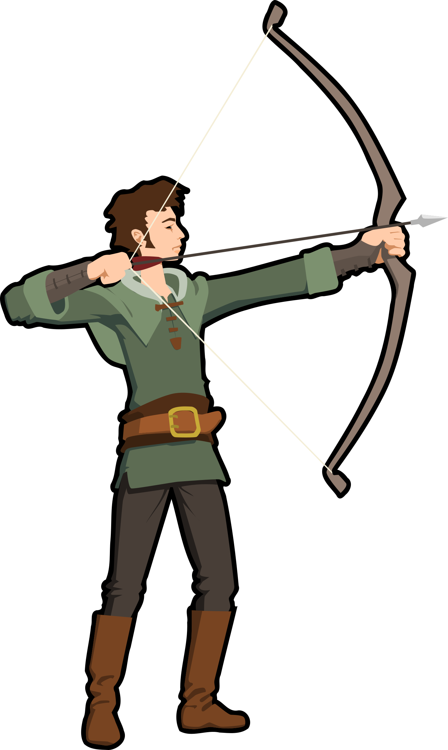 Hunter vector hunting. Clipart archer big image