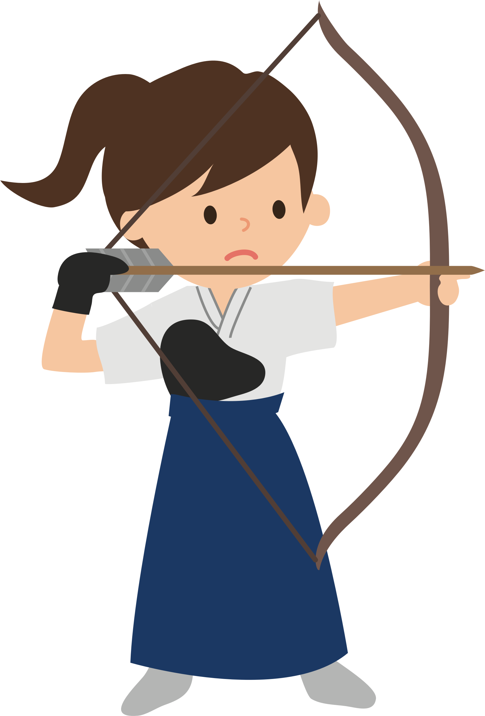 Archer clipart transparent. Female big image png