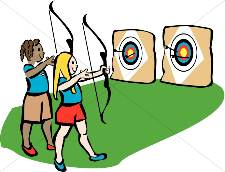 Archery clipart. Youth camp christian summer