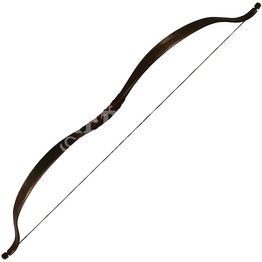 Archery bow png. Ready for battle black