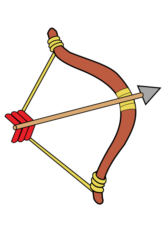 Weapon drawing arrow. Archery bow and bowhunting
