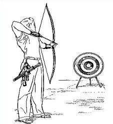 Archery clipart black and white. Free
