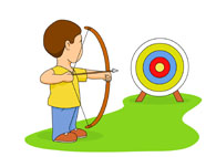 Archery clipart boy. Sports free to download