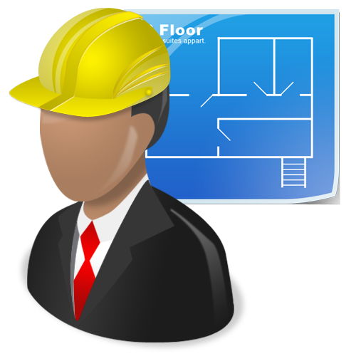 Architect vector construction manager. Fiu facilities management building