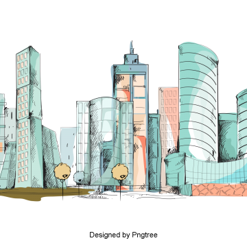 Architect vector momentary city. Urban architecture png vectors