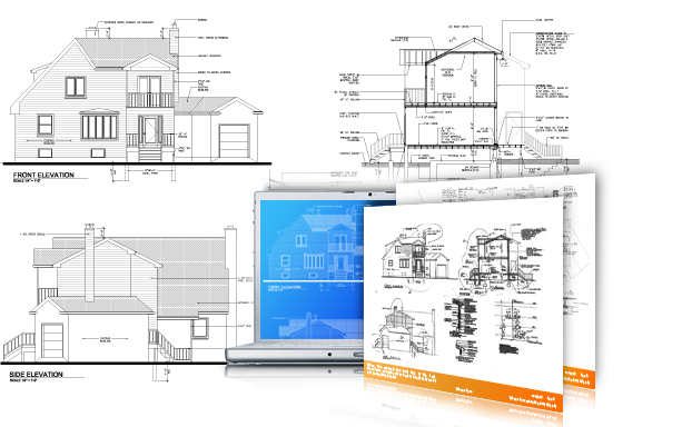 Architectual drawing mechanical. Cad outsourcing services architectural