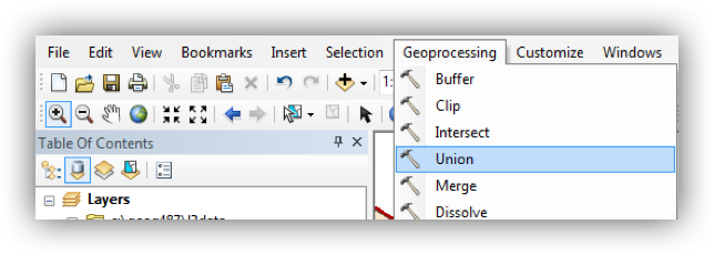 Arcmap clip intersect. Lessons screenshot geoprocessing union