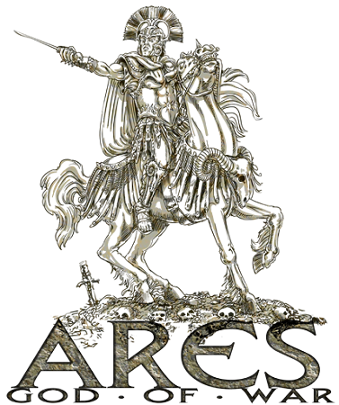 Ares vector greek god. Of war drawing at
