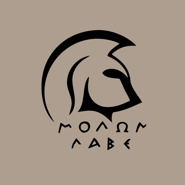 Ares vector spartan helmet side. Molon labe greek meaning