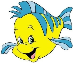 Ariel clipart ariel flounder. What type of fish image freeuse
