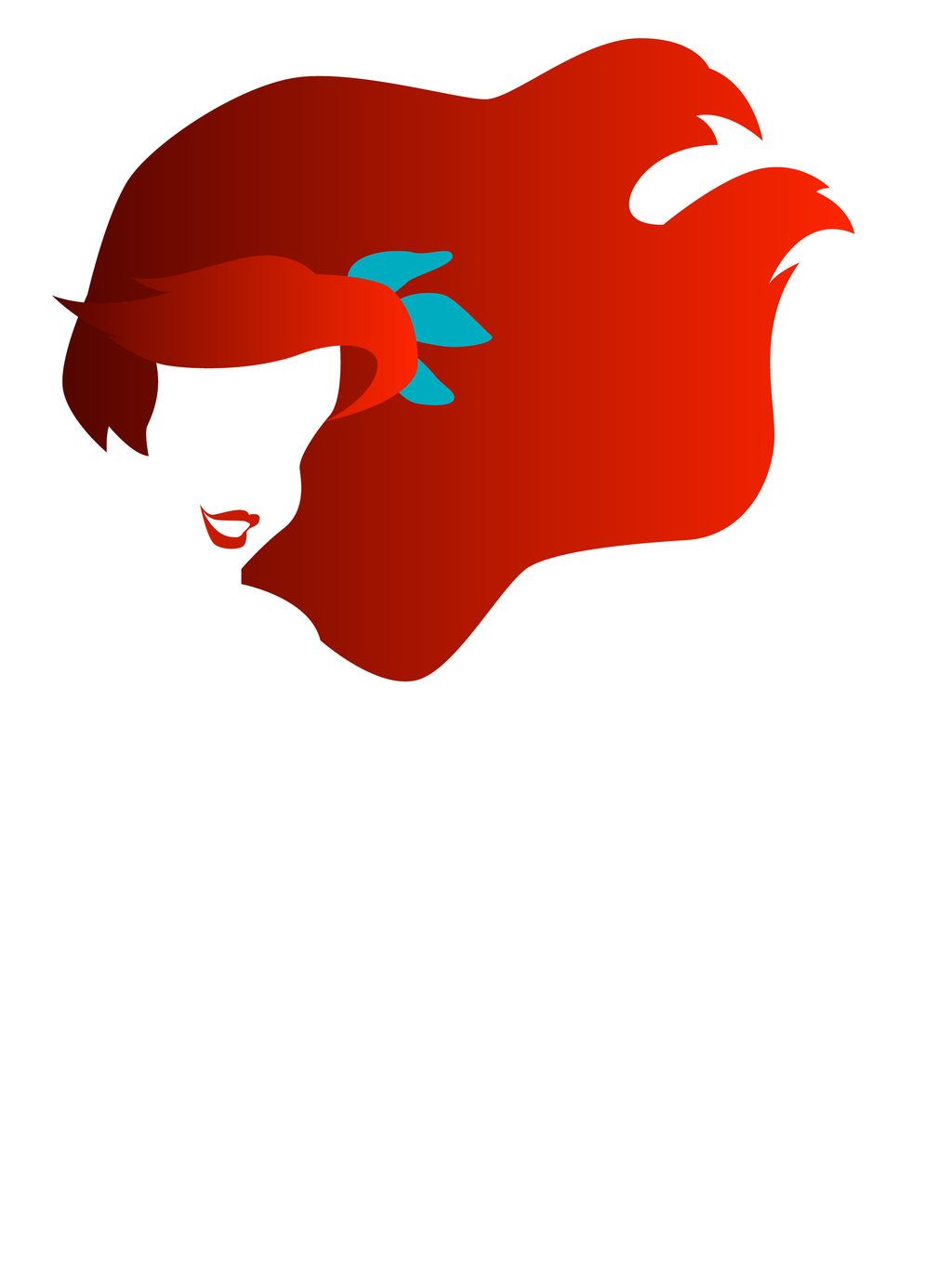 Ariel clipart hair. By dashingdesign on deviantart clipart black and white stock