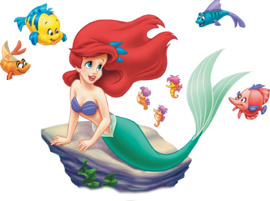 Disney princess images the. Ariel clipart mermaid theme clip black and white stock