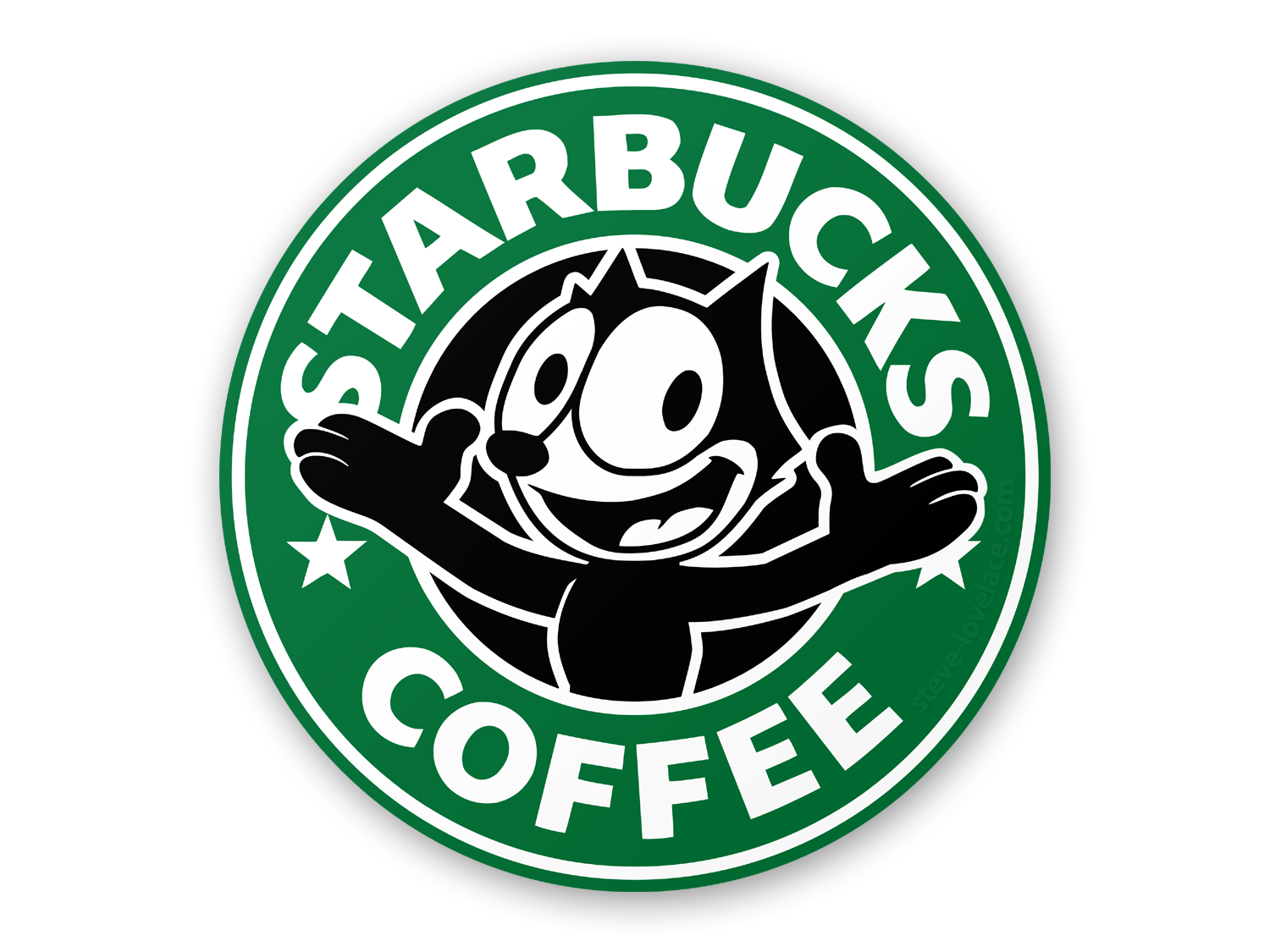 Ariel starbucks png. Logo with felix the