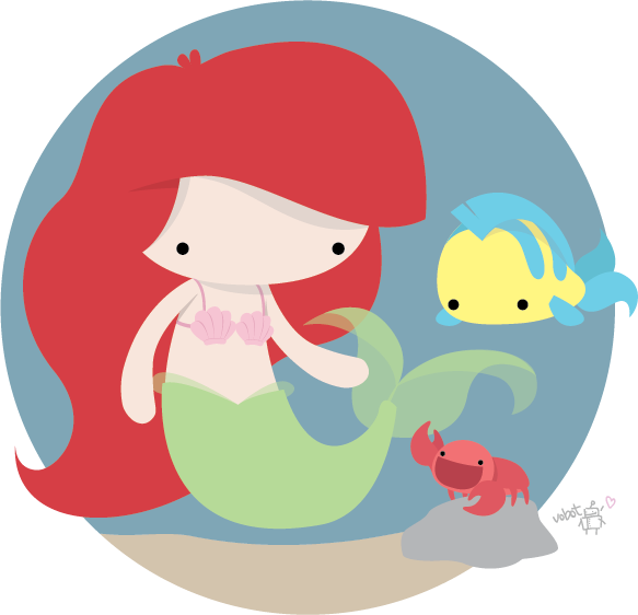 Ariel vector cute. And friends picked by