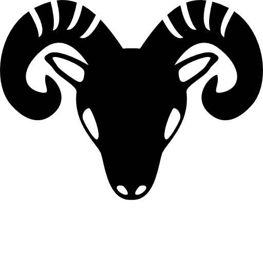 Aries vector black and white. Free icon download zodiac