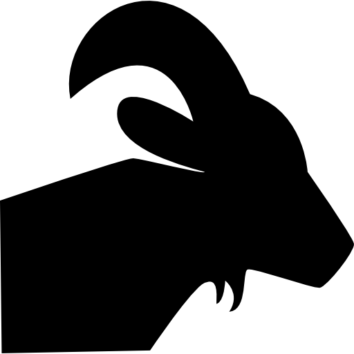 Aries vector black and white. Zodiac sign symbol icons