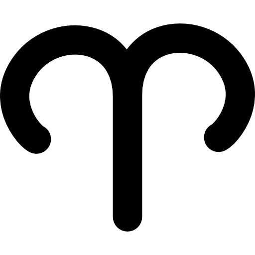 Aries vector simple. Sign icons free download
