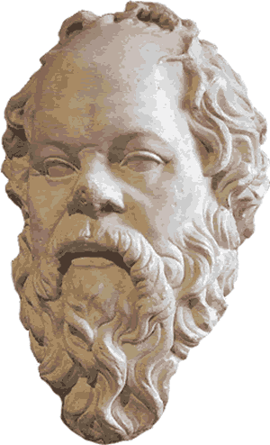 socrates drawing portrait