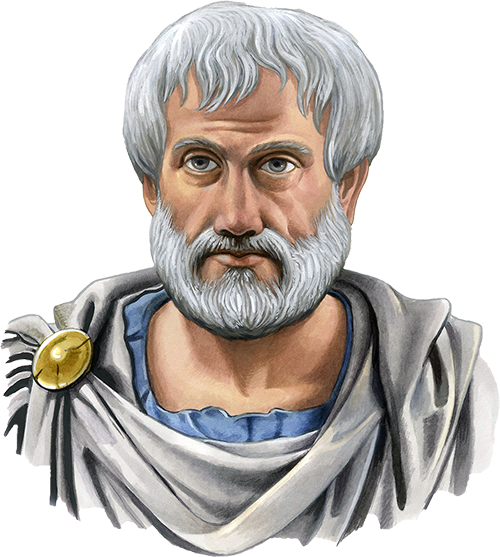 Aristotle drawing portrait. Interesting facts about
