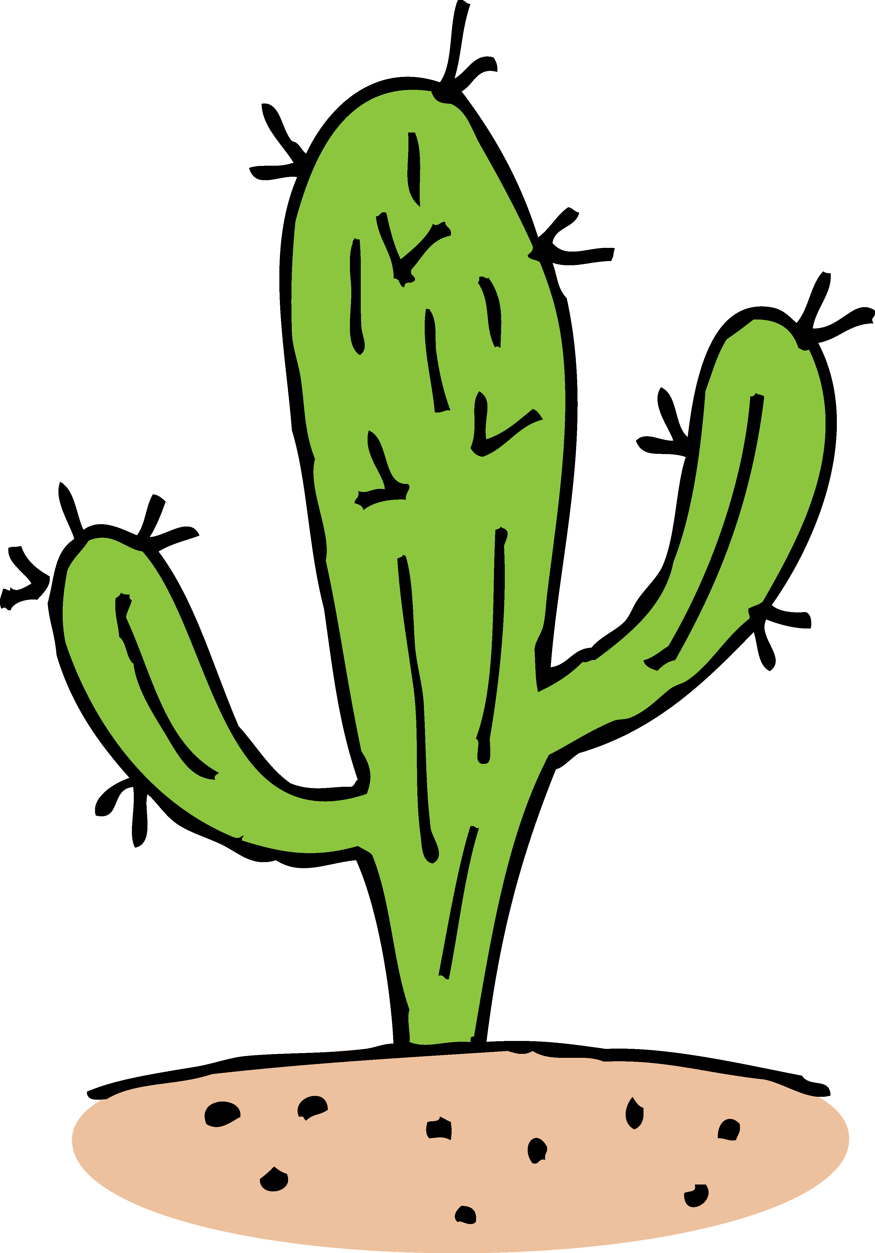 Arizona vector cactus. Collection of free cacti